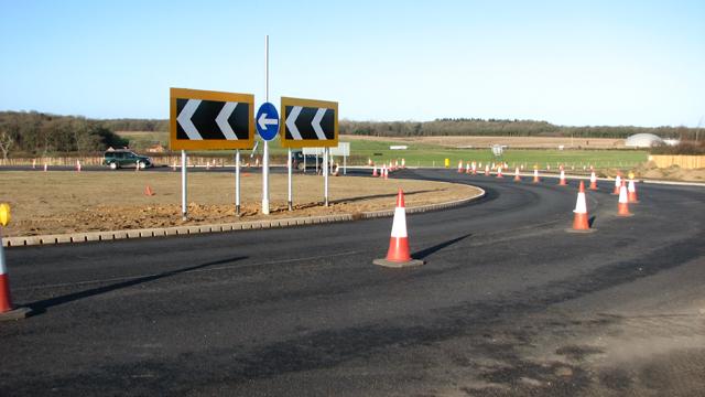 Fir Covert Road roundabout