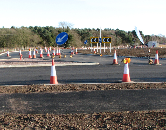 The new Reepham Road roundabout