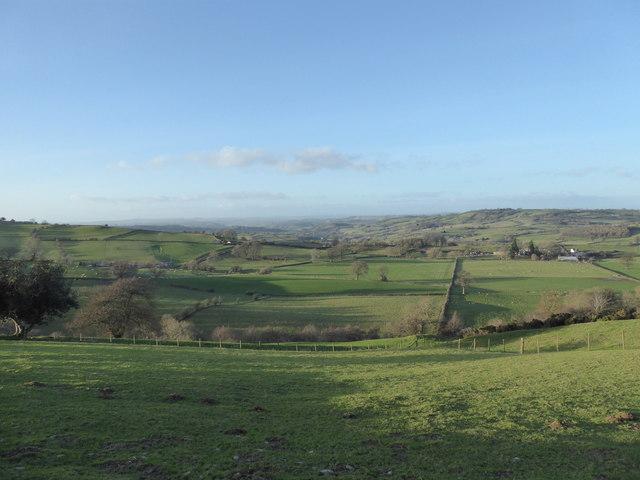 View down from Cefn-y-bryn