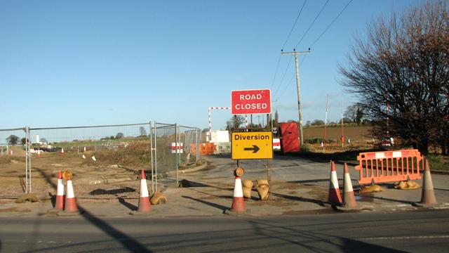 The southern end of Drayton Lane