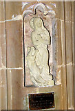 TG2312 : St Margaret's church, Old Catton - memorial by Evelyn Simak
