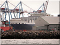 SJ3196 : Liverpool 2 Container Port Dock Wall and Royal Seaforth Dock by David Dixon