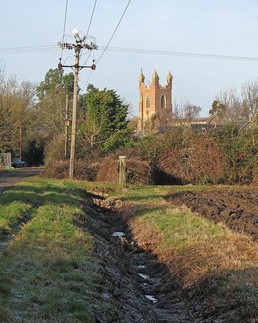 Cottenham: Church Lane and All Saints' tower