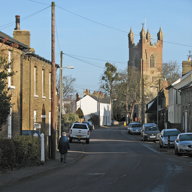 Cottenham High Street in December