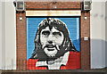 J3473 : Decorated shutter door, Ballarat Street, Belfast (December 2016) by Albert Bridge
