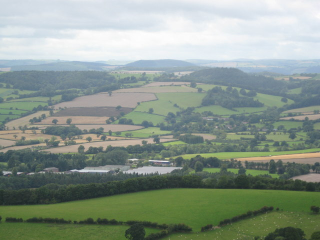 The Grove from Callow Hill - Shropshire