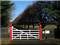 TL6760 : Stud farm entrance off Park Road by Hugh Venables