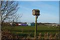 TA0535 : Bird box on Skidby Carr Lane by Ian S