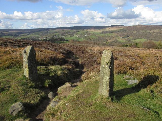 Old gateposts on Eyam Moor