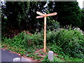 ST2895 : Wooden signpost, Forge Hammer, Cwmbran by Jaggery