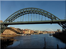 NZ2563 : Tyne Bridge and Newcastle Quayside by Anthony Foster