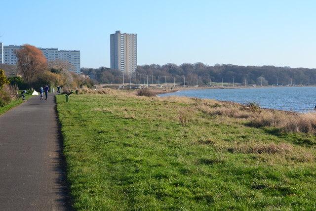 Shore path at Weston