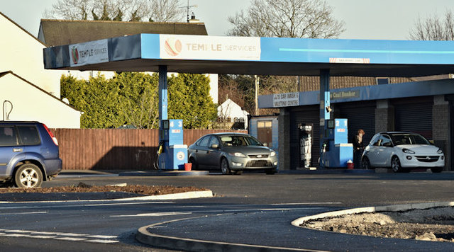 Petrol station at The Temple, Carryduff/Ballynahinch (December 2016)