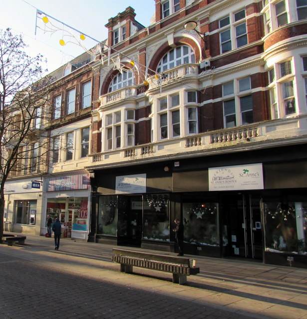 Friends of St Anne's Hospice Charity Shop in Newport city centre