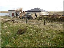 NS2472 : Sheds at Compensation Reservoir by Thomas Nugent