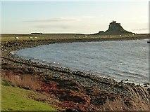 NU1341 : Lindisfarne Castle across The Ouse by Alan Murray-Rust