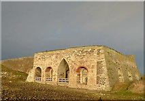NU1341 : Lindisfarne lime kilns by Alan Murray-Rust