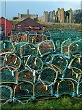 NU1241 : Crab and lobster pots, Holy Island by Alan Murray-Rust