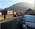 ST2293 : Wintry Edward Street, Cwmcarn by Jaggery