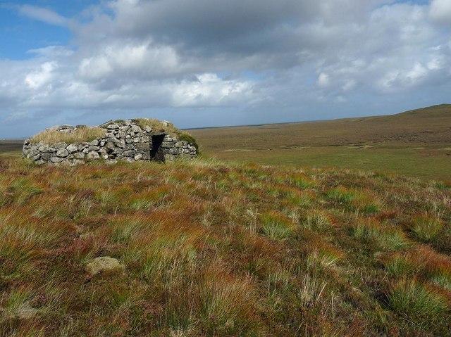 Shieling above Gleann Leitir, Isle of Lewis