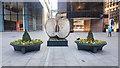 TQ3381 : Wicker Apple sculpture in Finsbury Avenue Square by Doug Lee