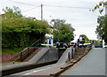 SJ5242 : Grindley Brook staircase locks  in Shropshire by Roger  Kidd