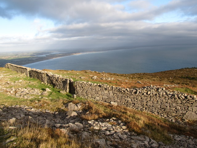 Wall built by the Belfast Water Commissioners below Drinneevar Quarry