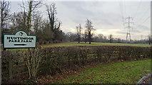 TQ0481 : Huntsmoor Park Farm sign, Iver by Rob Emms