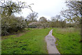 SP3576 : Footpath to a footbridge over the River Sowe, near Willenhall, Coventry by Robin Stott