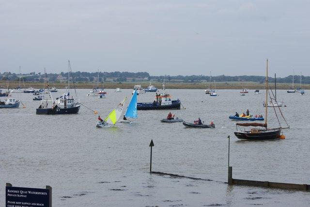 Dinghy sailing at Bawdsey Quay