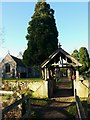 TL2966 : Lychgate at The Church of St. Mary Magdalene, Hilton by Gordon Brown