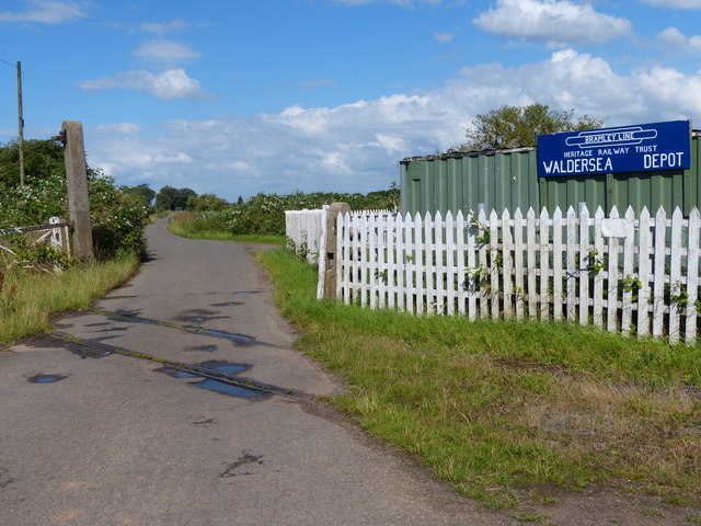 Disused level crossing on Long Drove