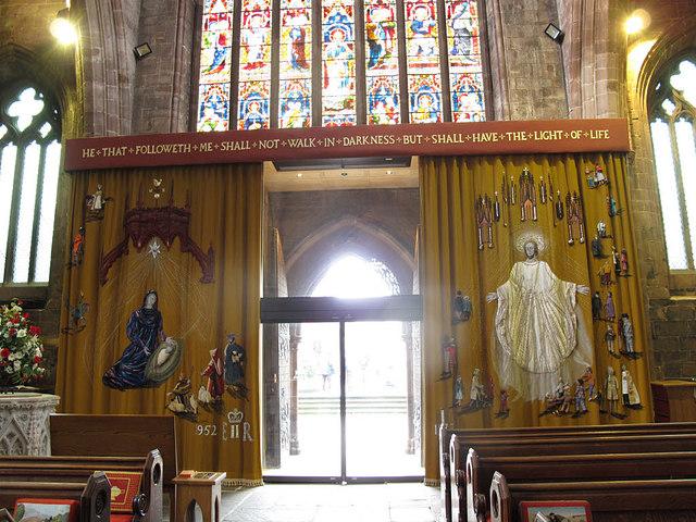 St Mary, Nantwich: Jubilee curtain
