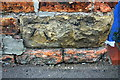 SK8053 : Benchmark on wall of Cross Street by Roger Templeman