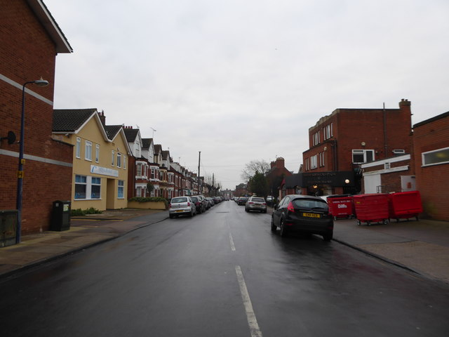 Looking from Hamilton Road into Gainsborough  Road