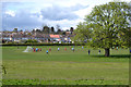 SP3576 : Local football match, Whitley, southeast Coventry by Robin Stott