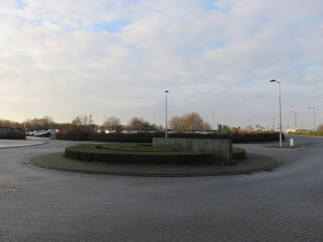 Roundabout on the Beehive Ring Road near Gatwick