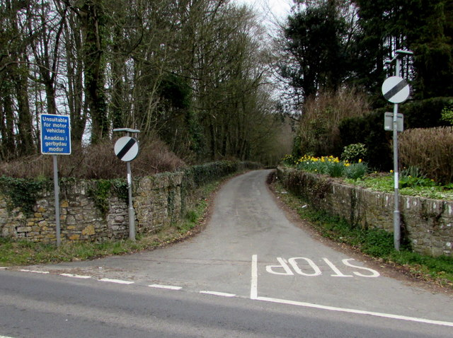 Unsuitable route for motor vehicles, Tythegston