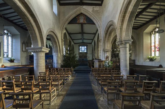 Interior, Ss Andrew & Mary church, Stoke Rochford