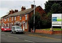 SJ6652 : Row of houses, London Road, Nantwich by Jaggery