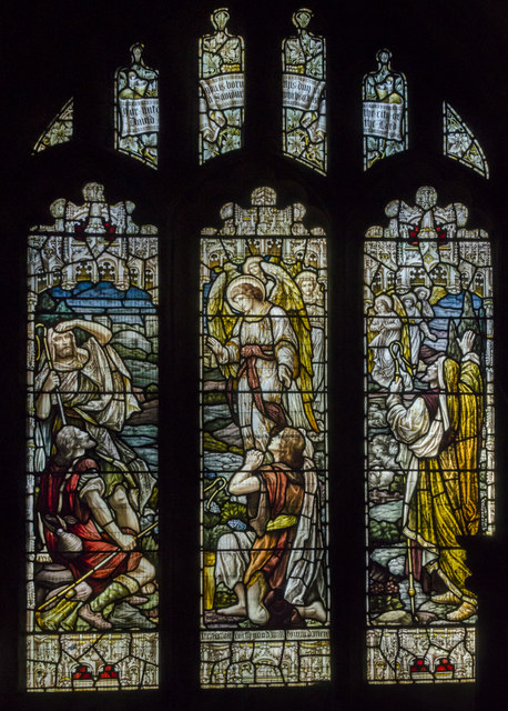 Stained glass window, Ss Andrew & Mary church, Stoke Rochford