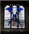 TL8279 : USAAF memorial window in Elveden church by Adrian S Pye