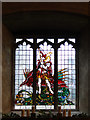 TL8279 : Memorial window in Elveden church by Adrian S Pye