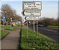 ST3086 : Direction signs facing Docks Way, Newport by Jaggery