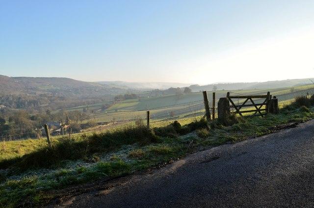 Derwent Valley from the Eyam Road, Derbyshire