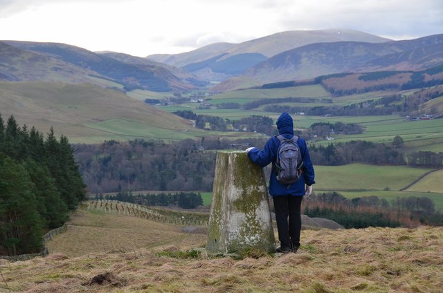 Edston Hill trig point, New Year's Day 2017