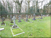 TQ1450 : St Barnabas, Ranmore Common: churchyard by Basher Eyre