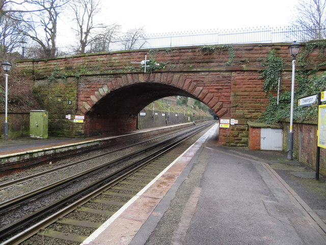 Knowsley Road bridge at Cressington station