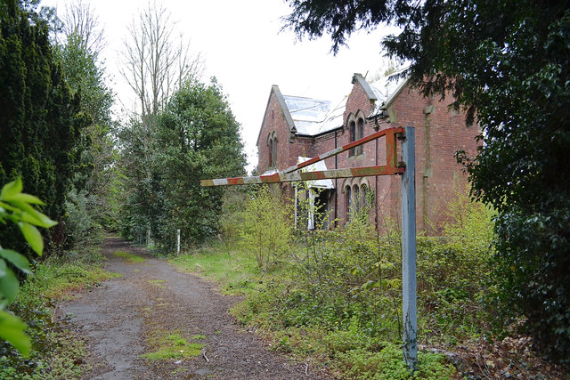 The derelict lodge to the former Whitley Pumping Station, southeast Coventry