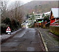 ST2293 : Ice warning sign, Nantcarn Road, Cwmcarn by Jaggery